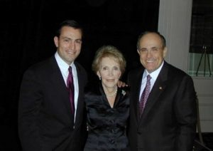 Rudy Giuliani (on the right) with Nancy Reagan and Vito Fossella